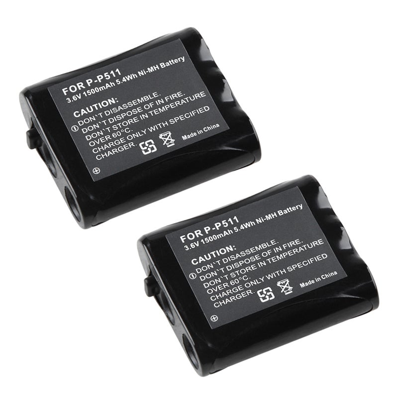 INSTEN Compatible Ni-MH Battery for Panasonic P-P511 Cordless Phone (Pack of 2)