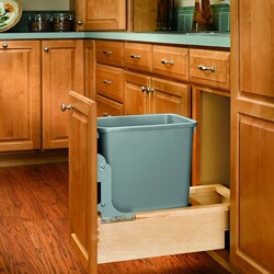 Rev-A-Shelf 4WCBM-15DM-R Wood Single 35-quart Waste Container
