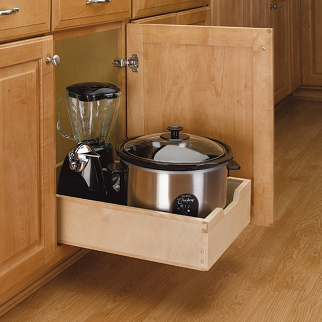 A Shelf 58 15c 5 Chrome Pull Out Basket: Rev-A-Shelf 4WDB-15 Medium Wood Pull-out Cabinet Drawer