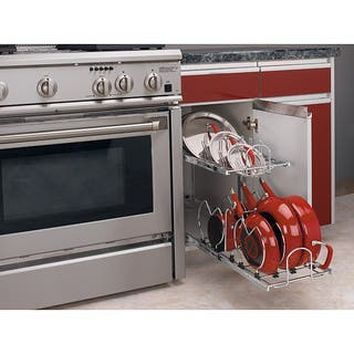 Rev-A-Shelf 5CW2-1222-CR Small 2-tier Cookware Organizer|https://ak1.ostkcdn.com/images/products/6455359/P14054391.jpg?impolicy=medium