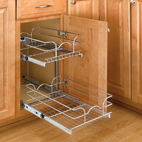 Rev-A-Shelf 5WB2-1222-CR Small 2-tier Chrome Basket