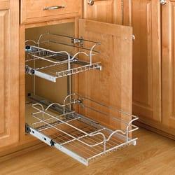 Rev-A-Shelf 5WB2-1222-CR Small 2-tier Chrome Basket|https://ak1.ostkcdn.com/images/products/6455370/Small-Two-Tier-Chrome-Wire-Baskets-P14054403.jpg?impolicy=medium