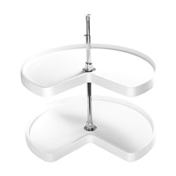 Rev-A Shelf 6472-28-11-52 Kidney-shaped 2-tier 28-inch Lazy Susan
