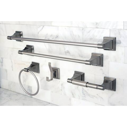 Brushed Nickel 5-piece Bathroom Accessory Set