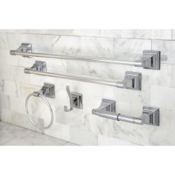 Chrome 5 Piece Bathroom Accessory Set