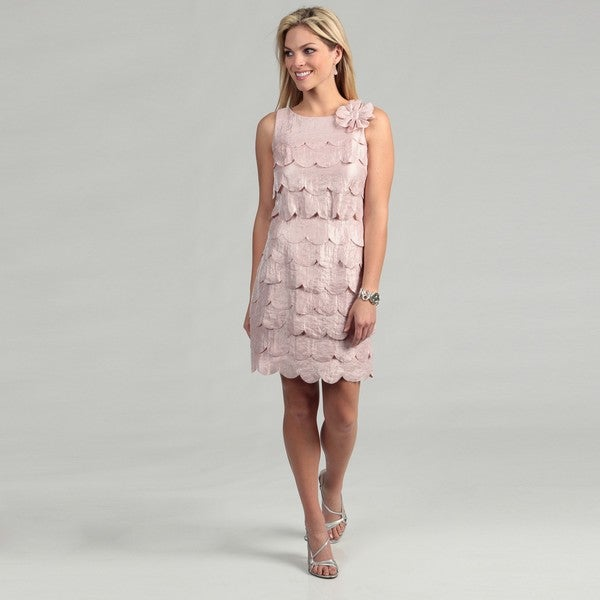 Sandra Darren Women's Blush Petal Tiered Dress