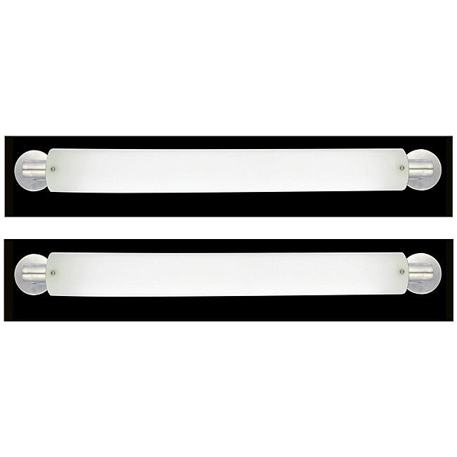 Marriott Series 2 light Brushed Nickel Opal Acrylic Bath Strip (2-Pack)