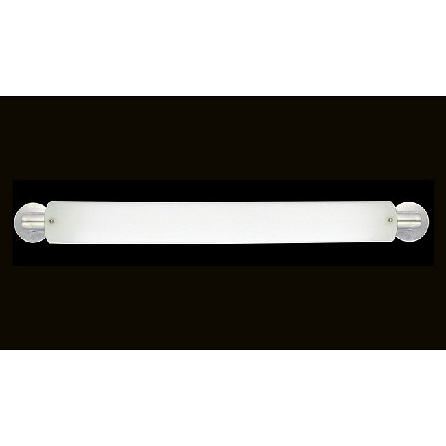 Marriott Series 2-light Brushed Nickel Opal Acrylic Bath Strip