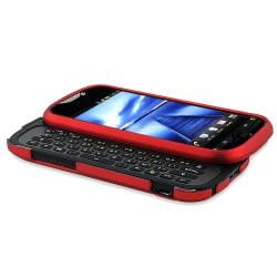 Red Snap-on Rubber Coated Case for HTC T-Mobile MyTouch 4G Slide