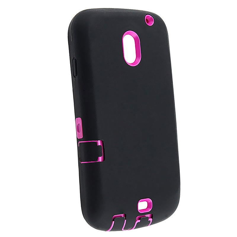 INSTEN Hot Pink Hard Plastic/ Black Skin Hybrid Phone Case Cover for Samsung Galaxy Nexus i515
