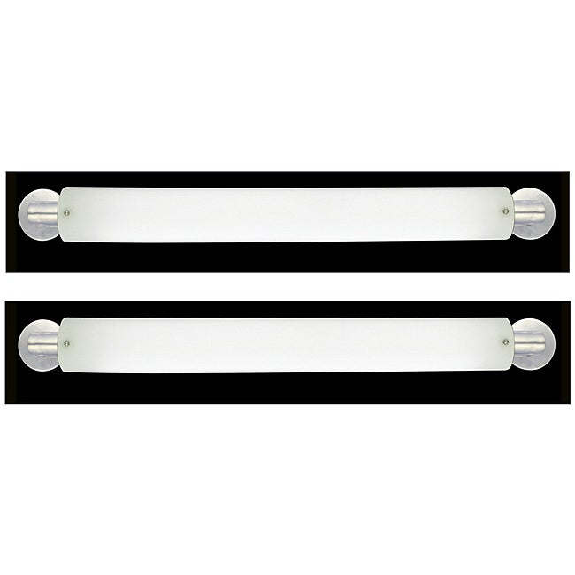 Marriott Series 2 light Brushed Nickel Opal Acrylic Bath Strip (2 Pack) - Thumbnail 0