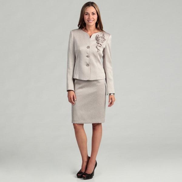 Kasper Women's Pebble 2-piece Skirt Suit