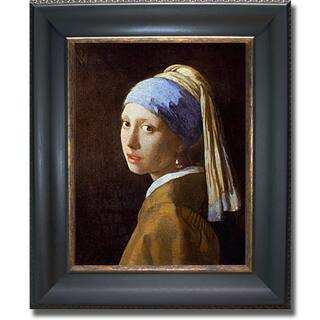 Vermeer - Girl with a Pearl Earring Framed Canvas