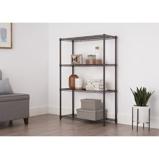 Trinity Dark Bronze 4-Tier Indoor Shelving Rack