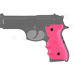 Hogue Pink Beretta 92/96 with Finger Grooves Rubber Mono Grip