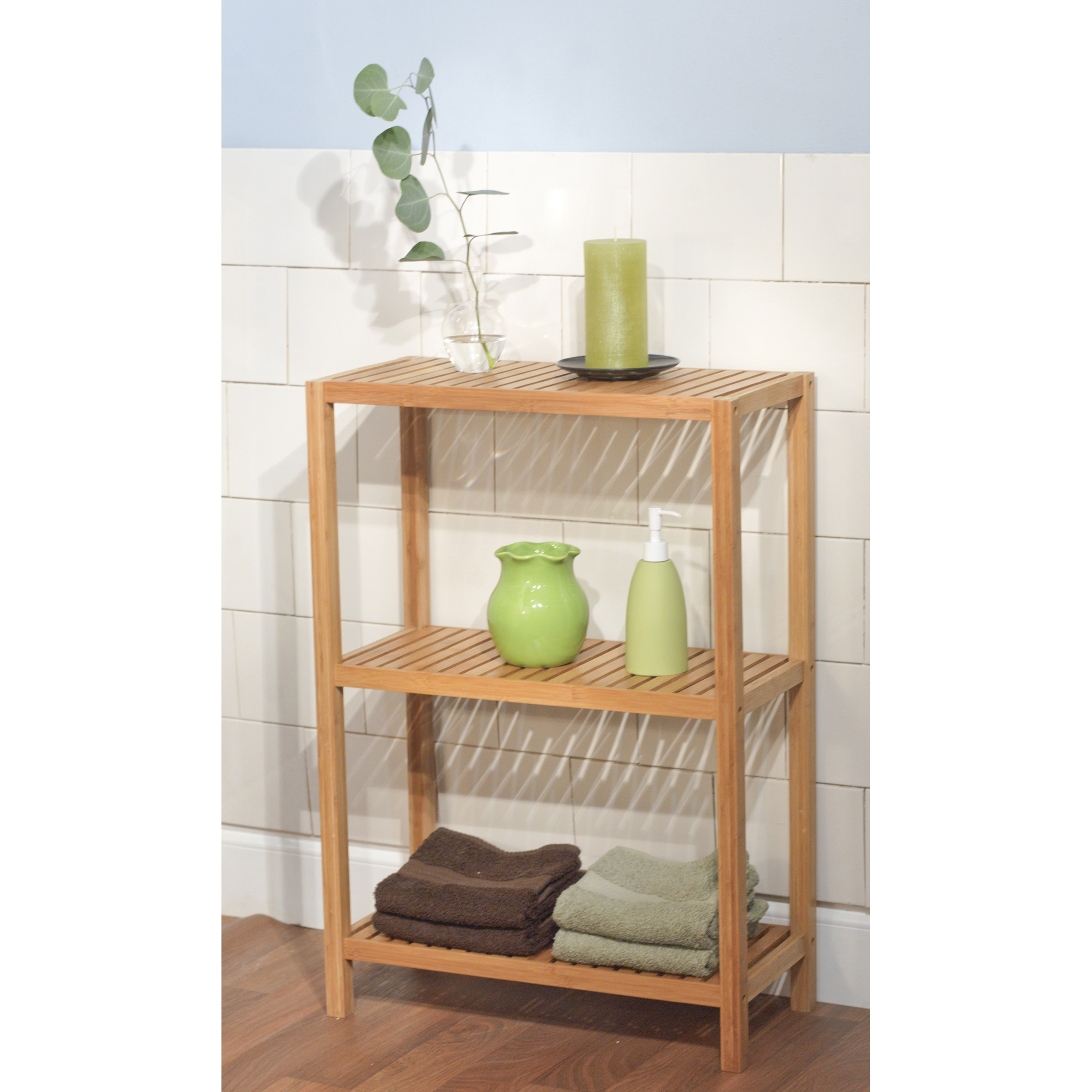 Simple living bamboo 3 tier shelf free shipping today - Accessories for bathroom shelves ...