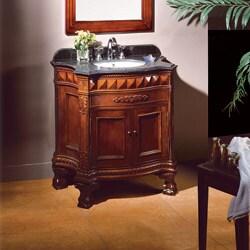 OVE Decors Birmingham 36 Inch Single Sink Bathroom Vanity With Marble Top