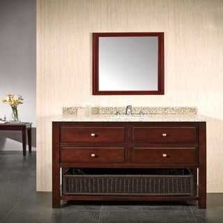 OVE Decors Dakota 42-inch Single Sink Bathroom Vanity with Granite Top