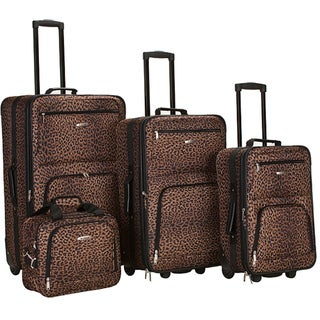 Link to Rockland Deluxe Leopard Four-piece Expandable Luggage Set Similar Items in Luggage Sets