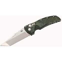 Hogue Green Camo G10 Frame 4-inch Tumble Finish Tanto Blade