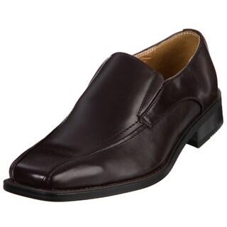 Zengara Men's Brown Squared Toe Slip-ons