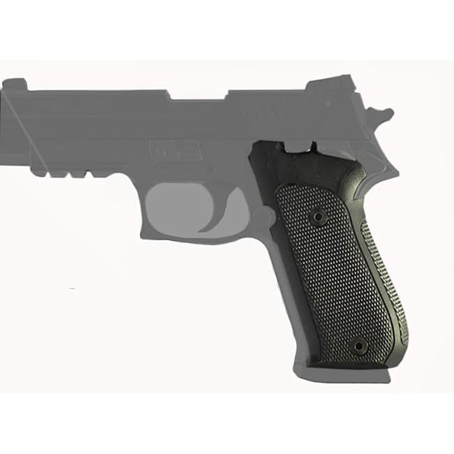 Hogue Sig P220 Single Action Checkered Aluminum Black Grip Panels