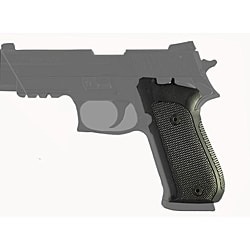 Hogue Sig P220 Single Action Checkered Aluminum Black Grip Panels
