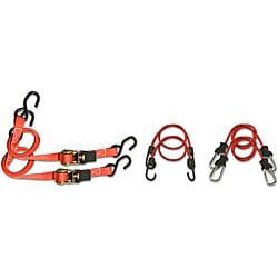 Raider 6-Piece Bungree Ratchet Strap Kit