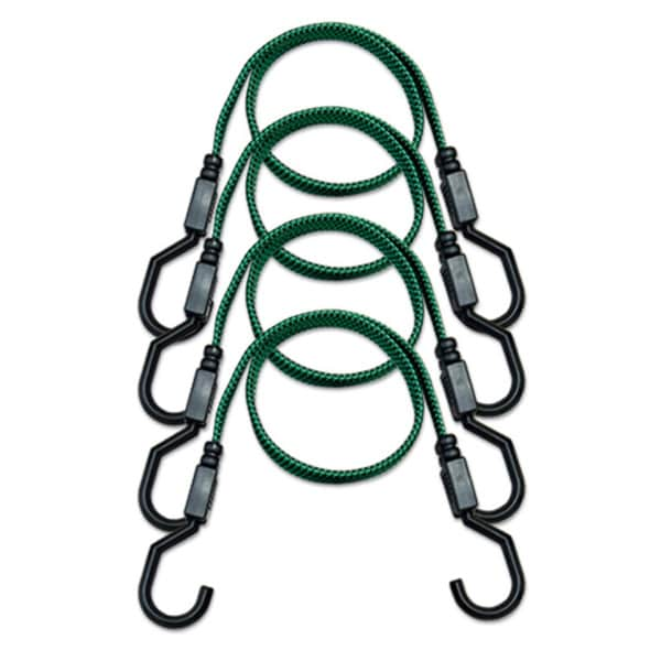 Raider Green/ Black 4-piece Flat Strap Kit