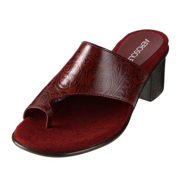 485d4e4ac6d Shop Aerosoles Women s  Born Free  Red Low Heel Sandals - Free ...