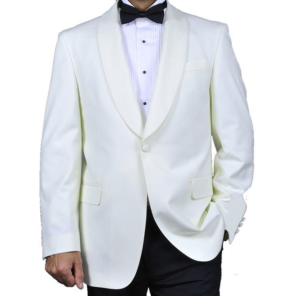 Men's White Sportcoat - Free Shipping Today - Overstock.com - 14056422