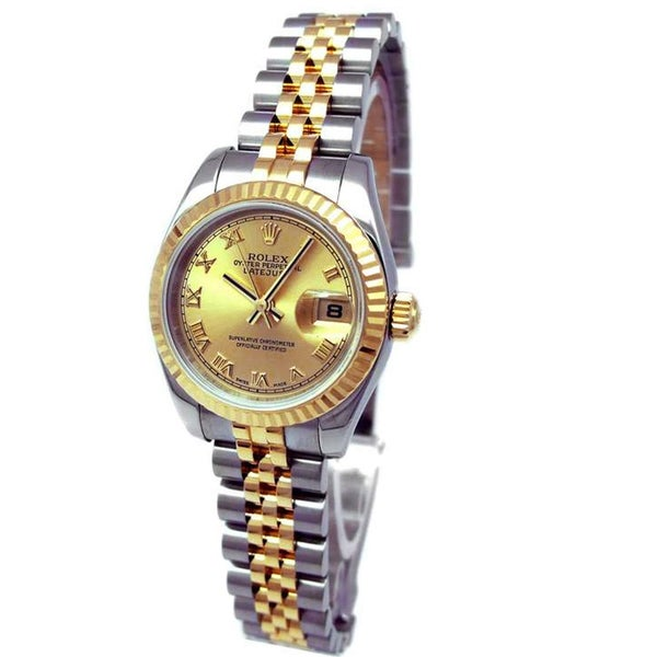 Pre-owned Rolex Women's 18k Gold and Steel Oyster Datejust Watch