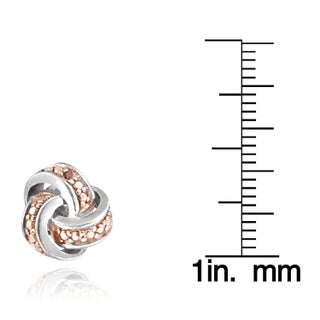 DB Designs Diamond Accent Love Knot Earrings (Option: Two-Tone)