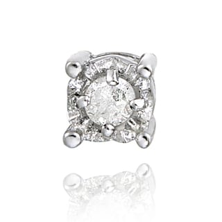 DB Designs Sterling Silver White Diamond Accent Single Stud Earring