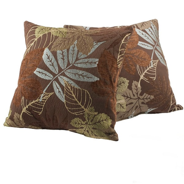 Shop Maxwell Foliage Decorative Pillows Set Of 40 On Sale Free Cool Overstock Decorative Pillows