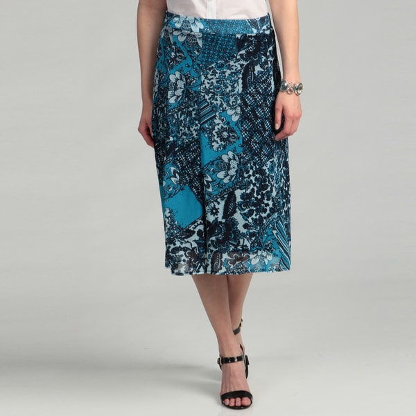 R.Q.T Women's Floral Patch Work Printed Mesh Skirt FINAL SALE