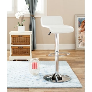 Safavieh Soho White Adjustable 20.5-30-inch Swivel Bar Stool
