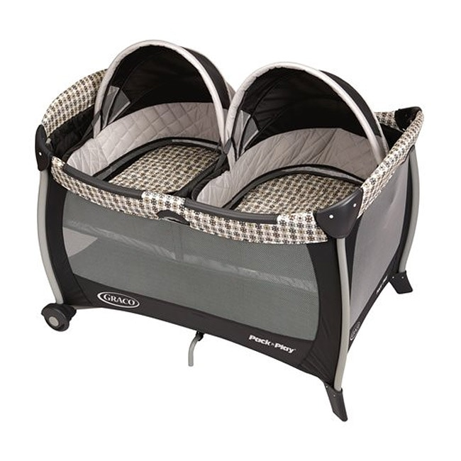 Graco Pack 'n Play Portable Playard with Twins Bassinet in Vance - Thumbnail 0