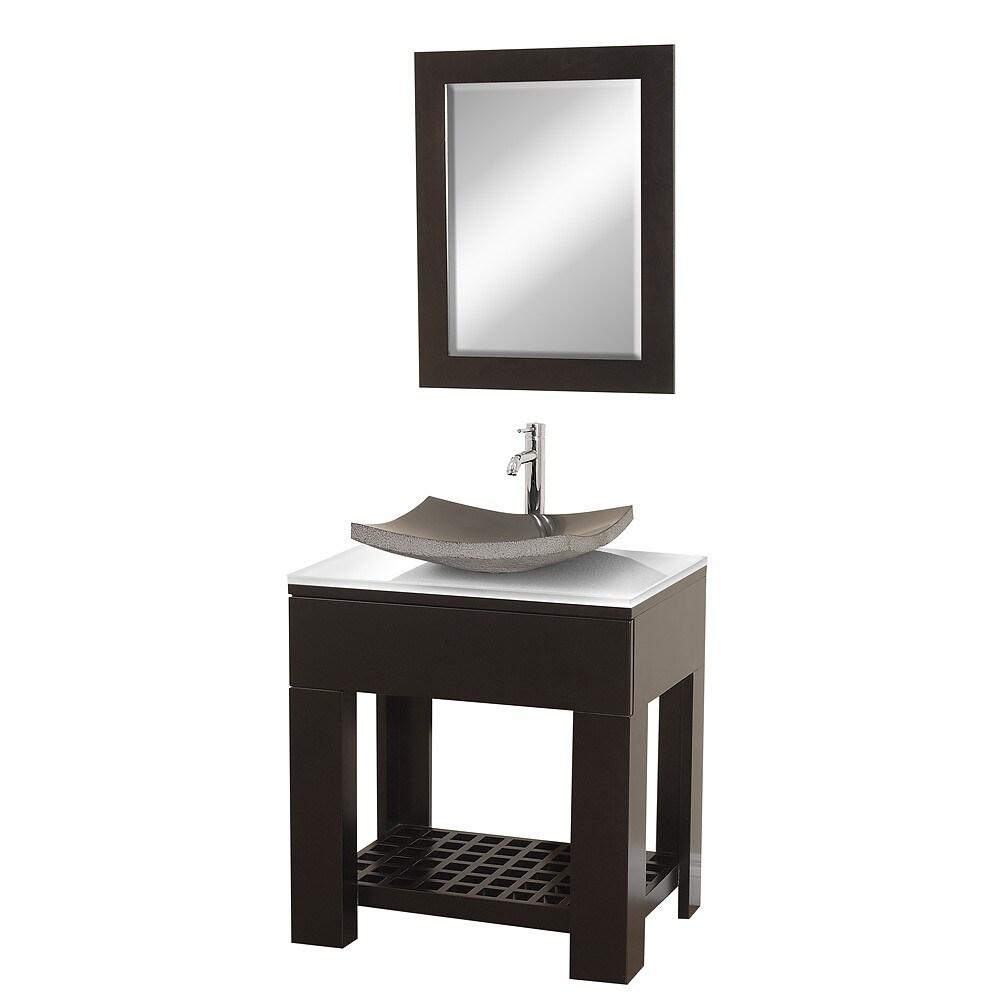 Wyndham Collection Zen II Espresso 30-inch  Single Bathroom Vanity Set