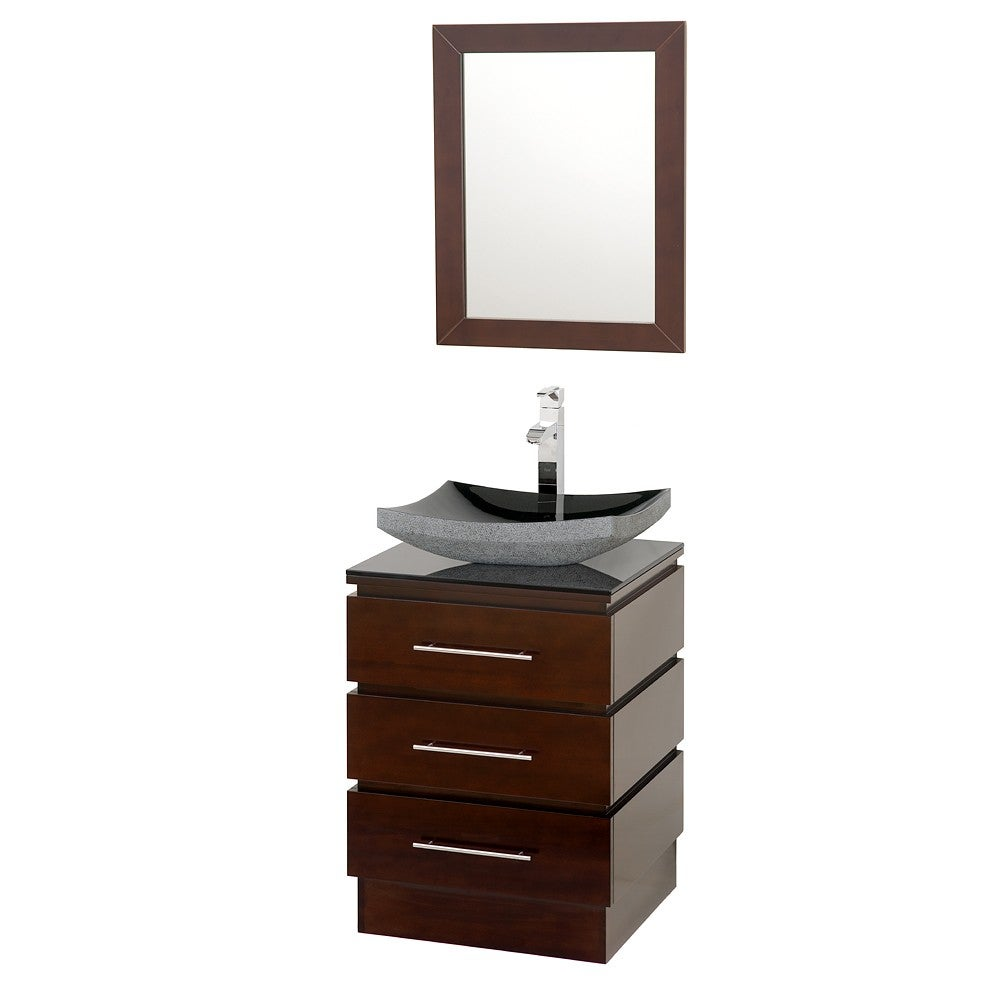 Wyndham Rioni Espresso 22-inch Single Bathroom Vanity Set...