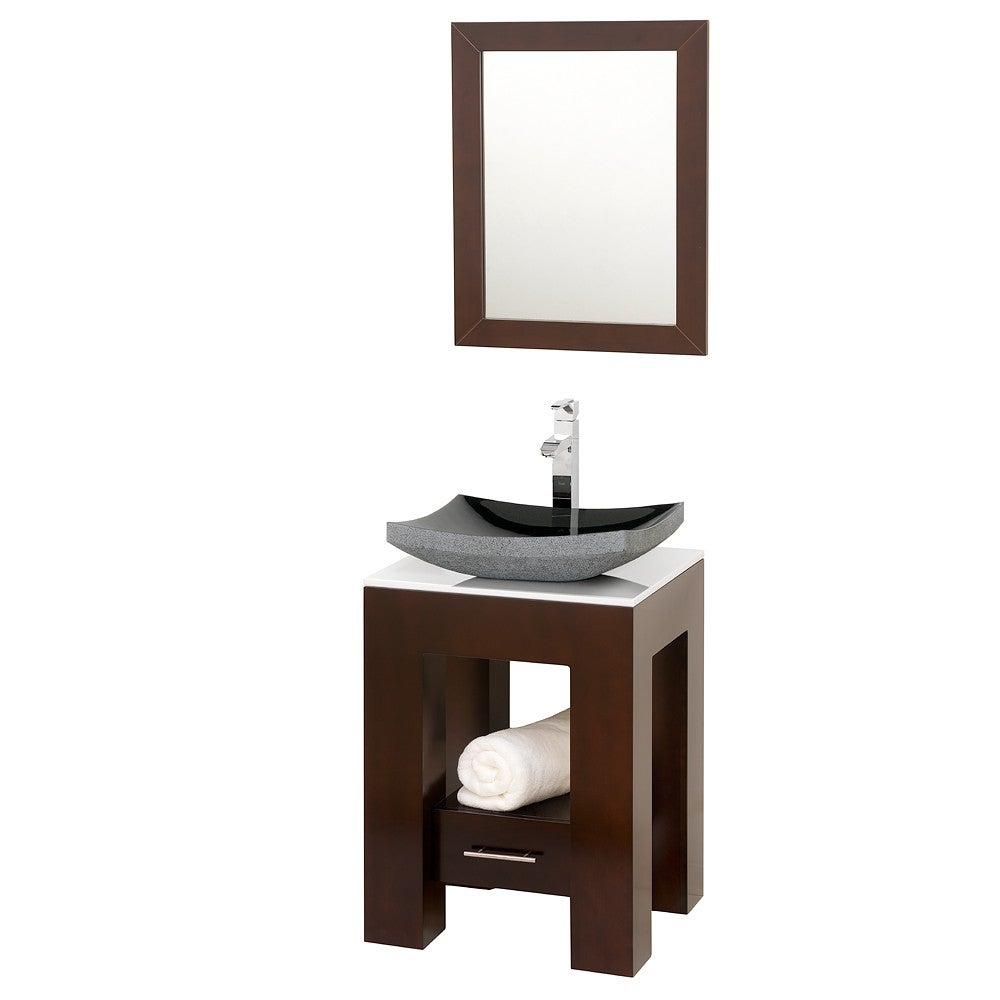 Wyndham Collection Amanda Espresso 22-inch  Single Bathroom Vanity Set