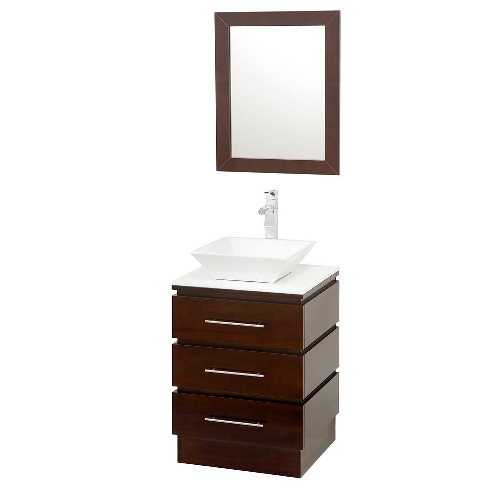Wyndham Collection Rioni Espresso 22 Inch Single Bathroom Vanity Set