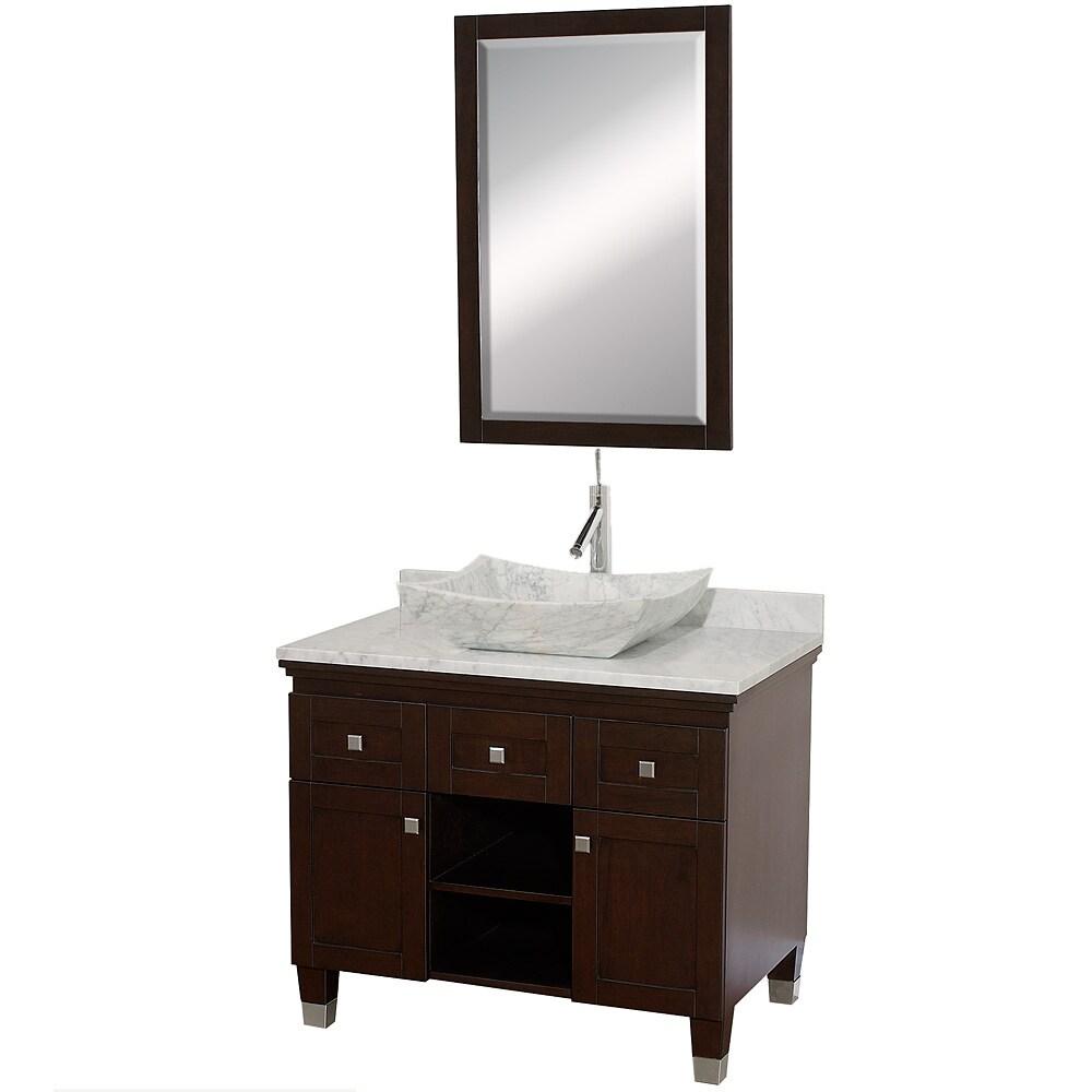 Wyndham Collection Premiere X27 Espresso 36 Inch Solid Oak Single Bathroom Vanity