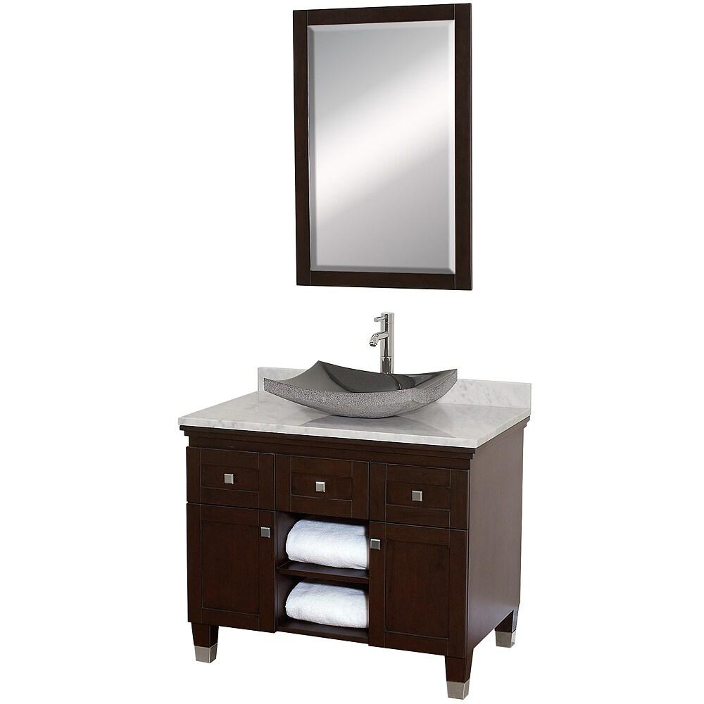 Wyndham Collection Premiere' Espresso 36-inch Single Bathroom Vanity