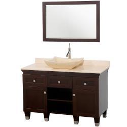 Wyndham Collection Premiere' Espresso 48-inch Solid Oak Single Bathroom Vanity