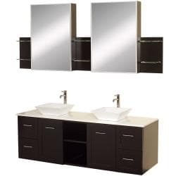Wyndham Collection Avara Espresso 60-inch Double Bathroom Vanity Set - Thumbnail 0