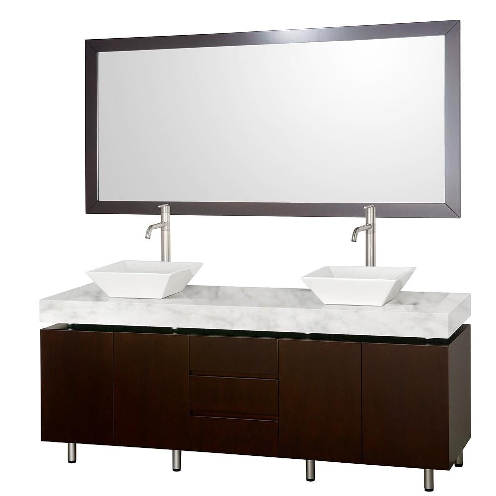 Wyndham Collection Malibu Espresso  Double Bathroom Vanity Set