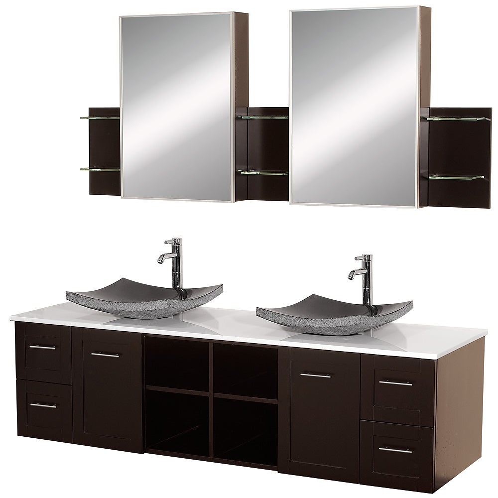 Shop Wyndham Collection Avara Espresso 72 Inch Double Bathroom