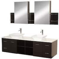 Wyndham Collection Avara Espresso 72-inch  Double Bathroom Vanity Set