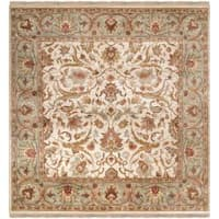 Hand-knotted Kershaw Semi-Worsted New Zealand Wool Area Rug (8' Square)